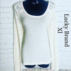 New Lucky Brand Long Sleeve XL Top